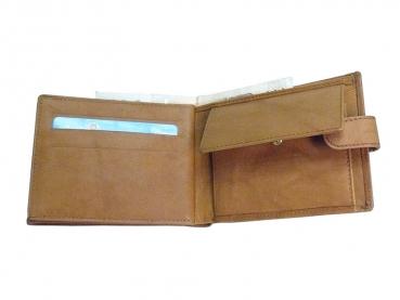 Kožená peněženka hnědá_detail