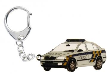 Kovový přívěšek Octavia Policie