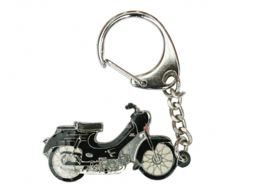 Výroba kovových přívěsků barvených - motorka