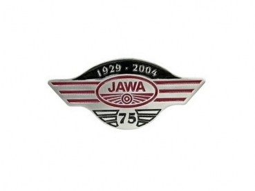 Smaltovaná přezka Jawa 75 let