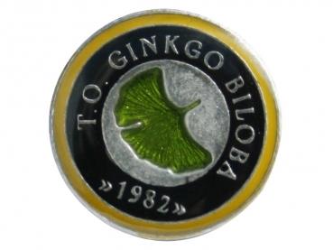 Smaltovaný odznak Ginkgo Biloba